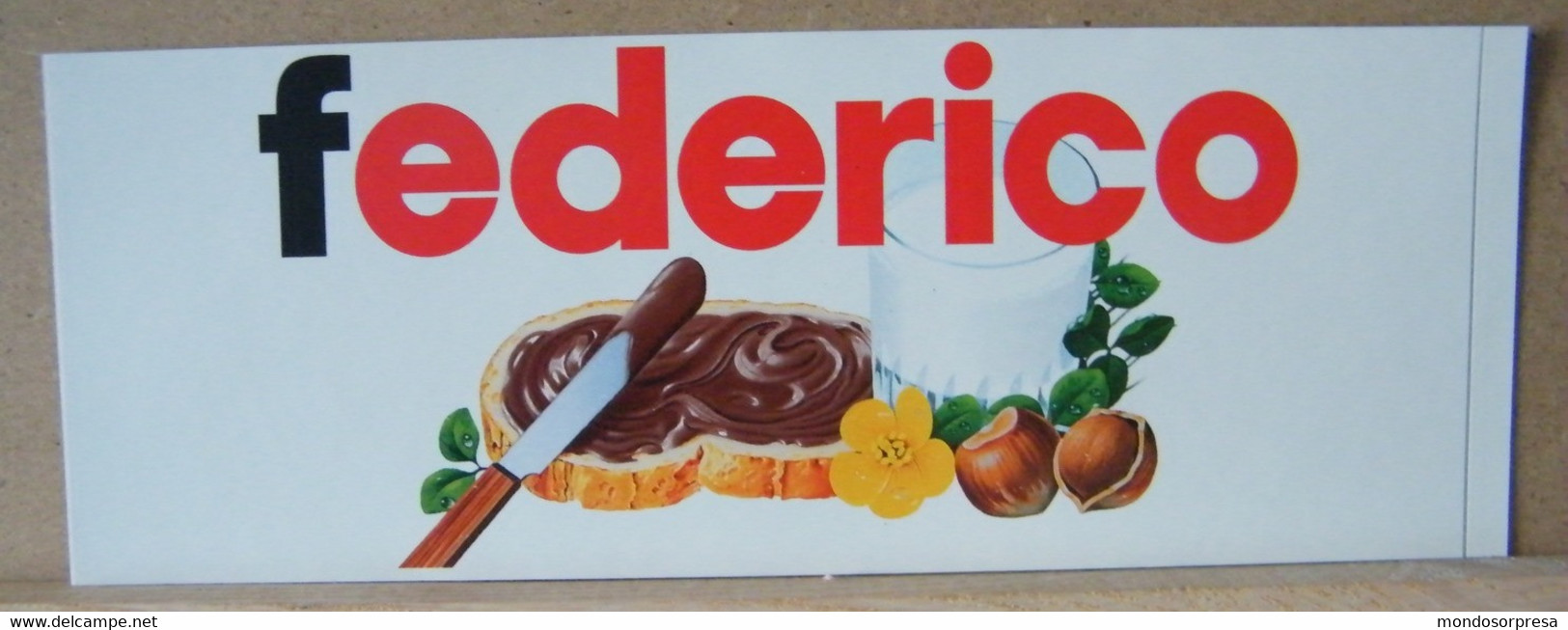 MONDOSORPRESA, ADESIVI NUTELLA NOMI, FEDERICO - Nutella