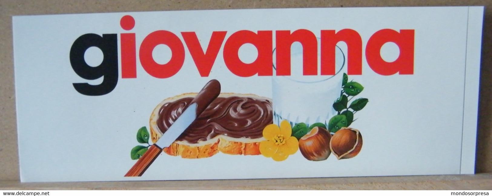 MONDOSORPRESA, ADESIVI NUTELLA NOMI, GIOVANNA - Nutella
