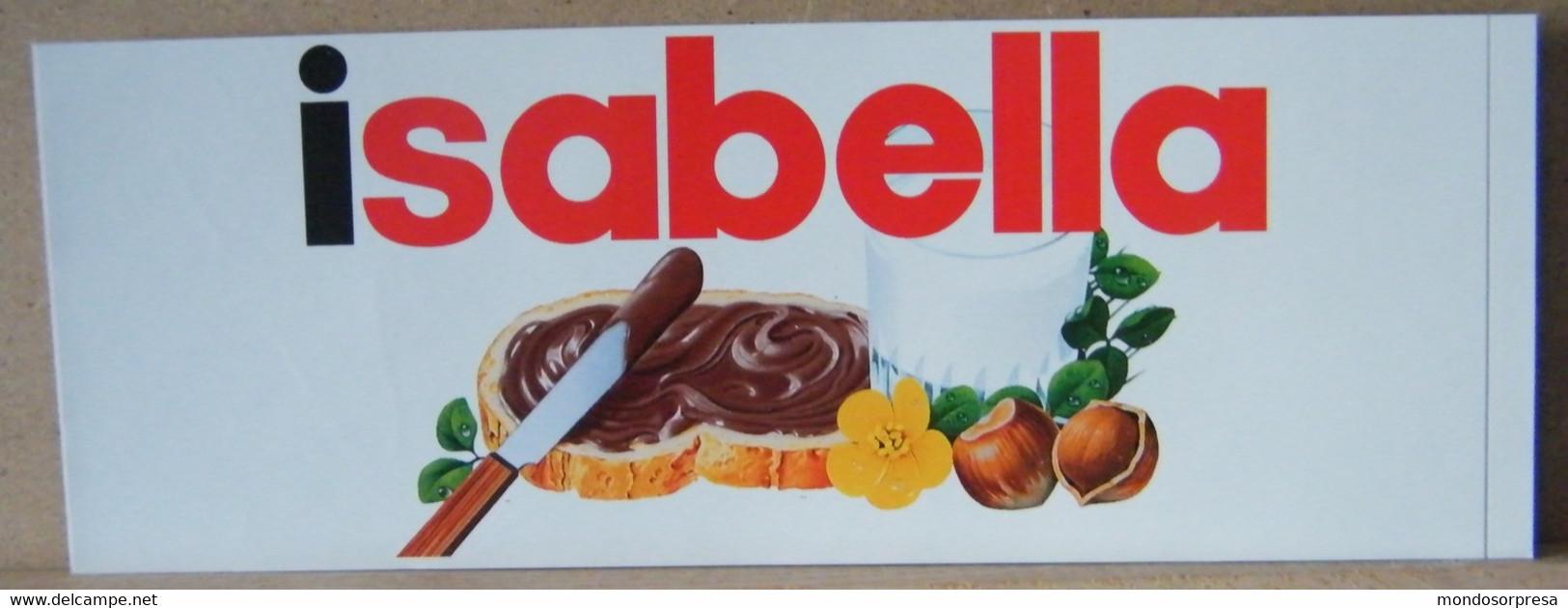 MONDOSORPRESA, ADESIVI NUTELLA NOMI, ISABELLA - Nutella
