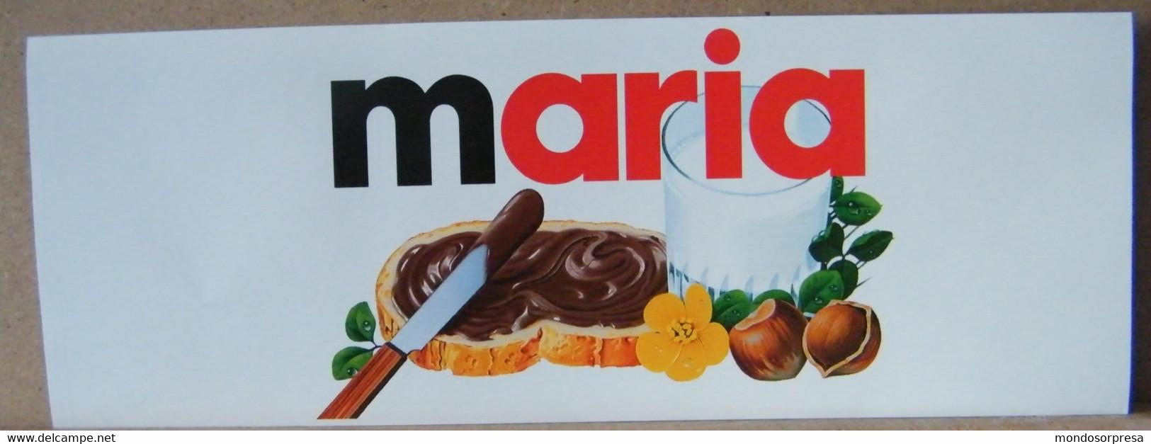 MONDOSORPRESA, ADESIVI NUTELLA NOMI, MARIA - Nutella