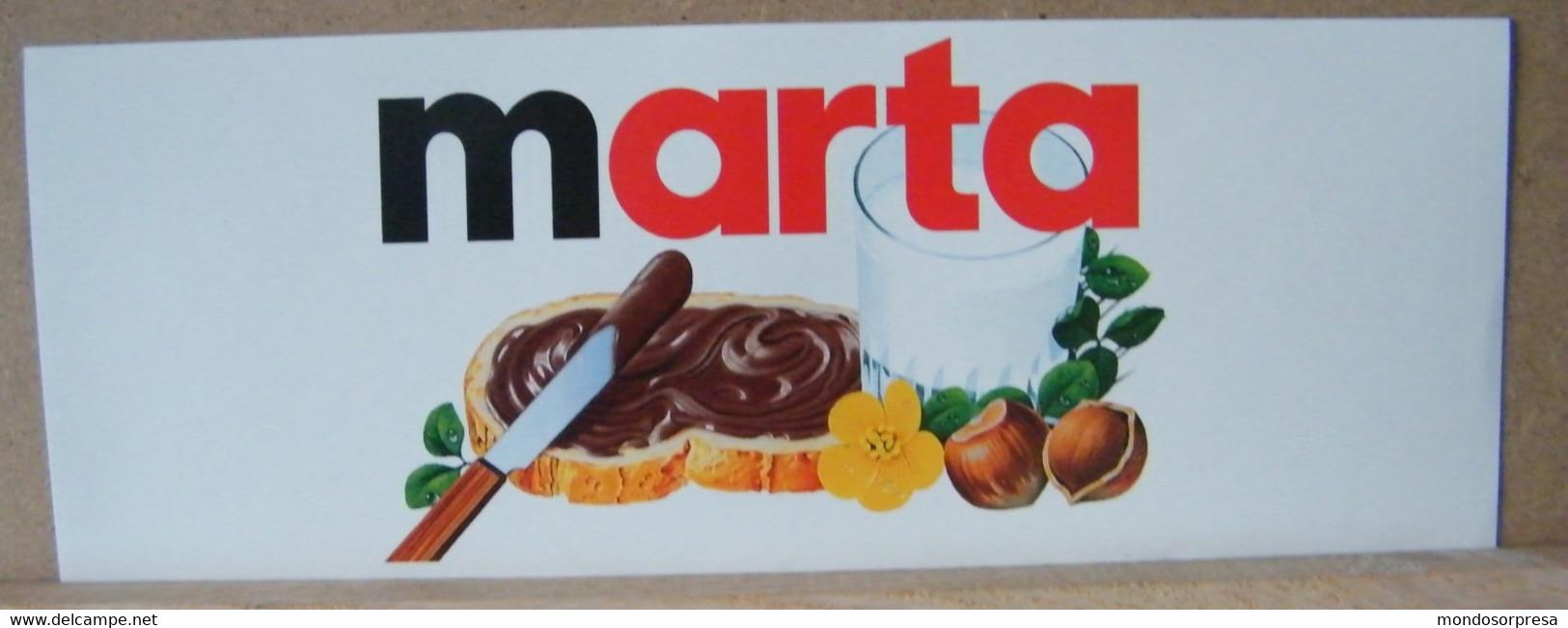 MONDOSORPRESA, ADESIVI NUTELLA NOMI, MARTA - Nutella