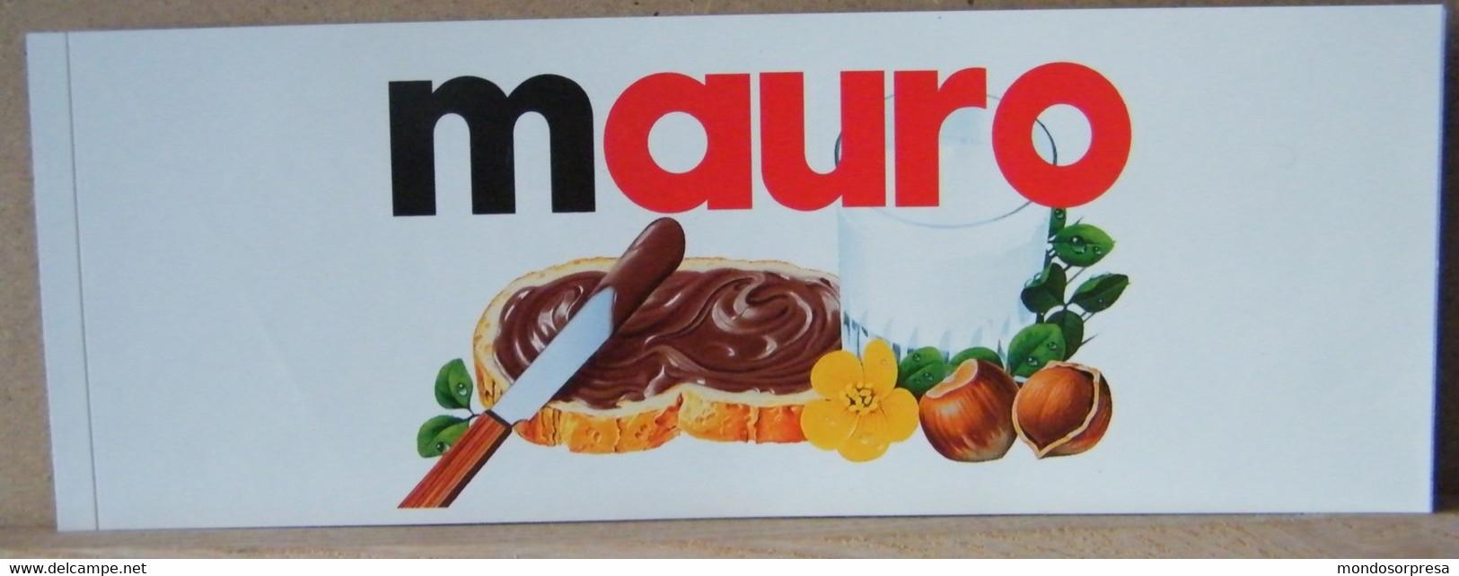 MONDOSORPRESA, ADESIVI NUTELLA NOMI, MAURO - Nutella