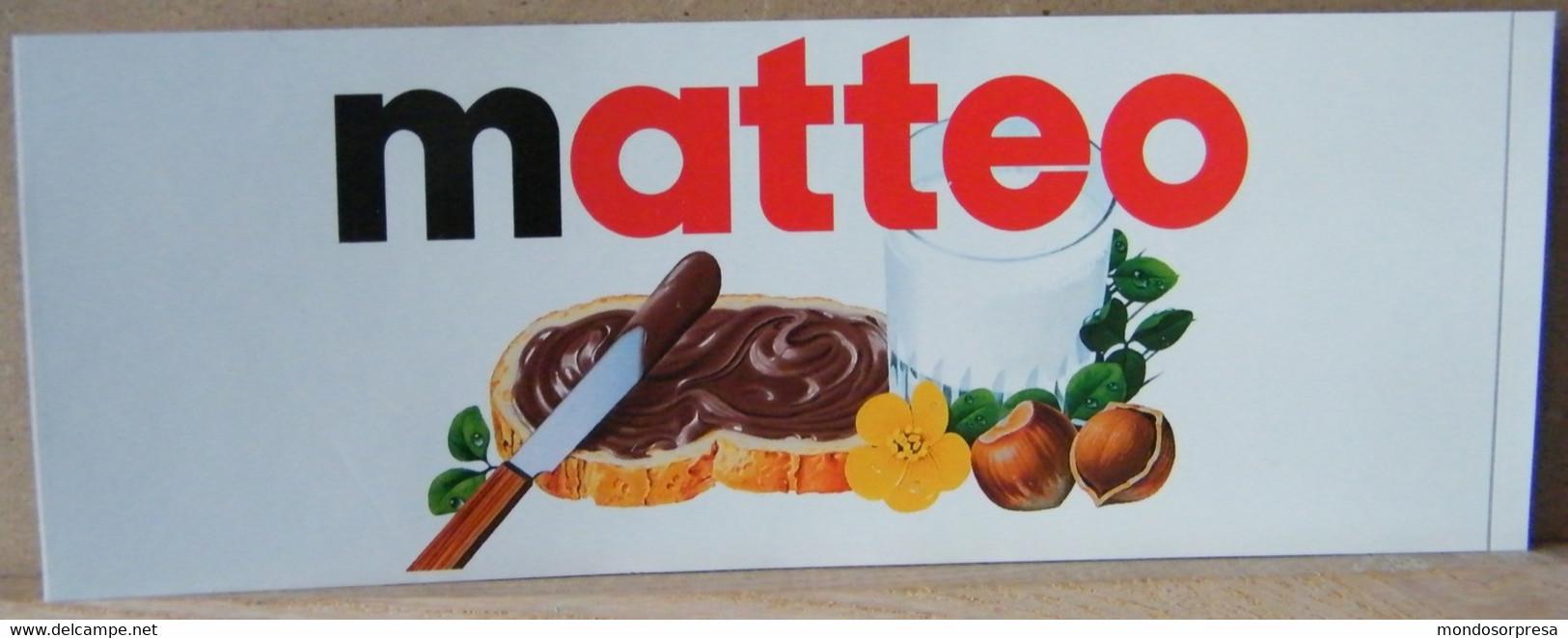MONDOSORPRESA, ADESIVI NUTELLA NOMI, MATTEO - Nutella