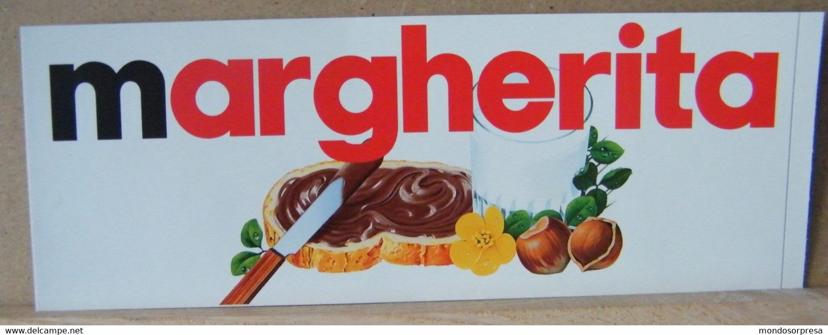 MONDOSORPRESA, ADESIVI NUTELLA NOMI, MARGHERITA - Nutella