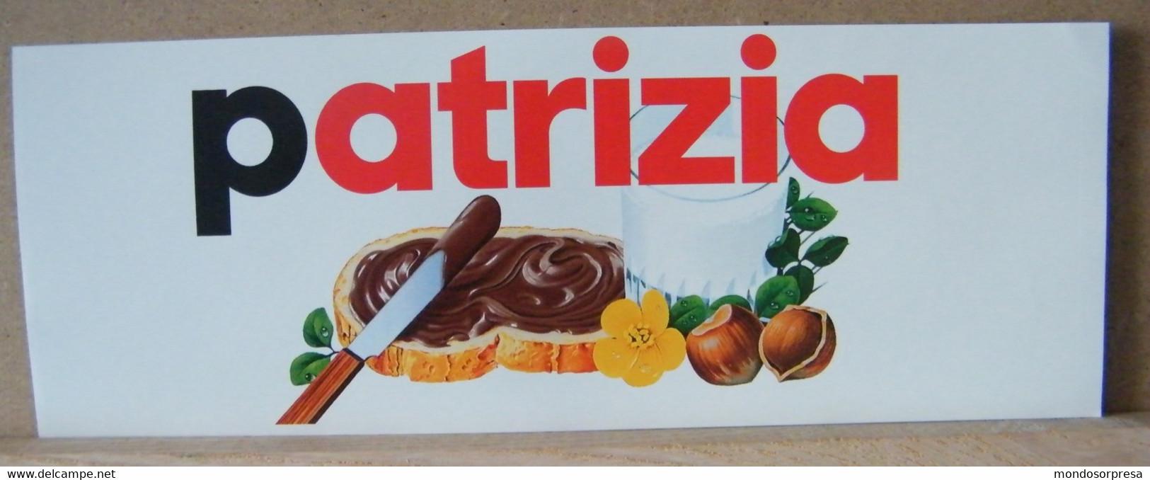 MONDOSORPRESA, ADESIVI NUTELLA NOMI, PATRIZIA - Nutella