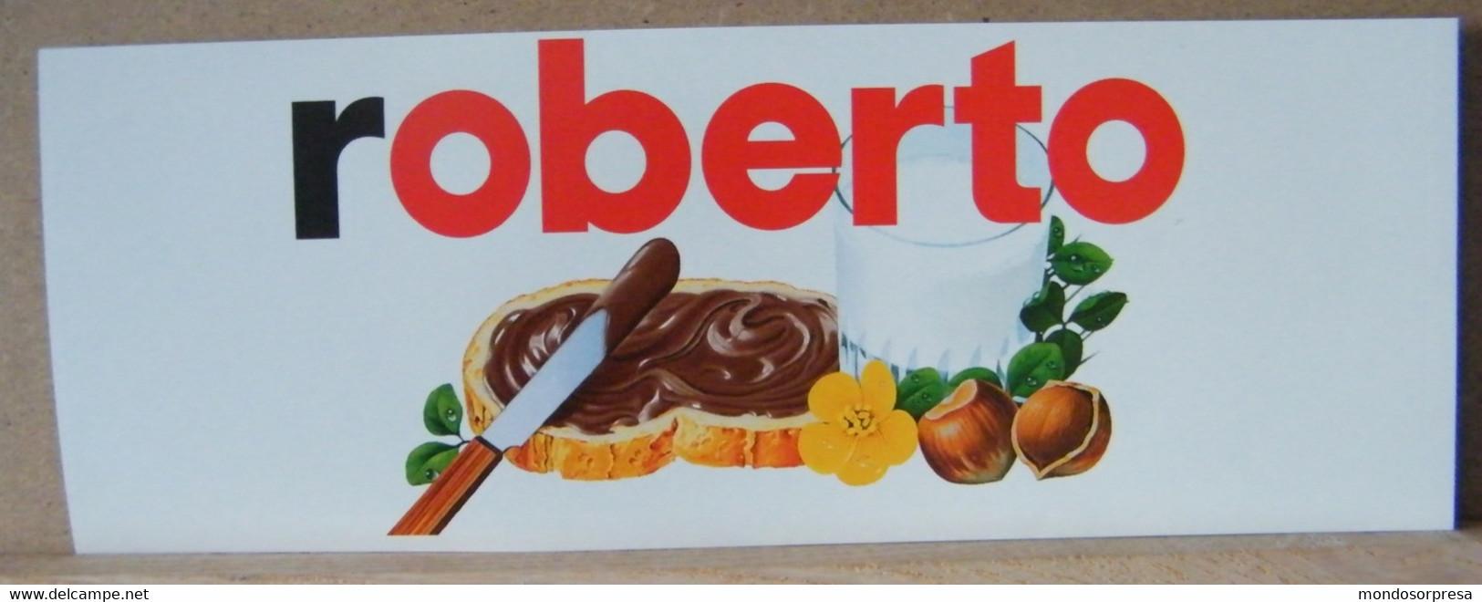 MONDOSORPRESA, ADESIVI NUTELLA NOMI, ROBERTO - Nutella