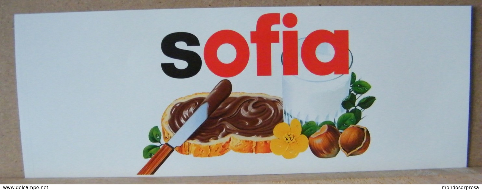 MONDOSORPRESA, ADESIVI NUTELLA NOMI, SOFIA - Nutella