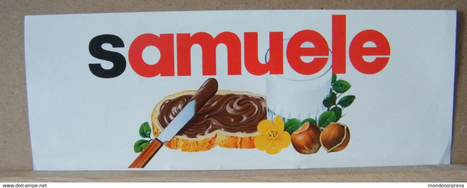MONDOSORPRESA, ADESIVI NUTELLA NOMI, SAMUELE - Nutella