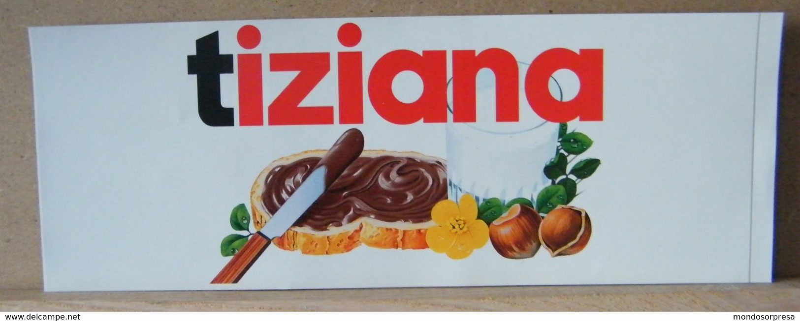 MONDOSORPRESA, ADESIVI NUTELLA NOMI, TIZIANA - Nutella