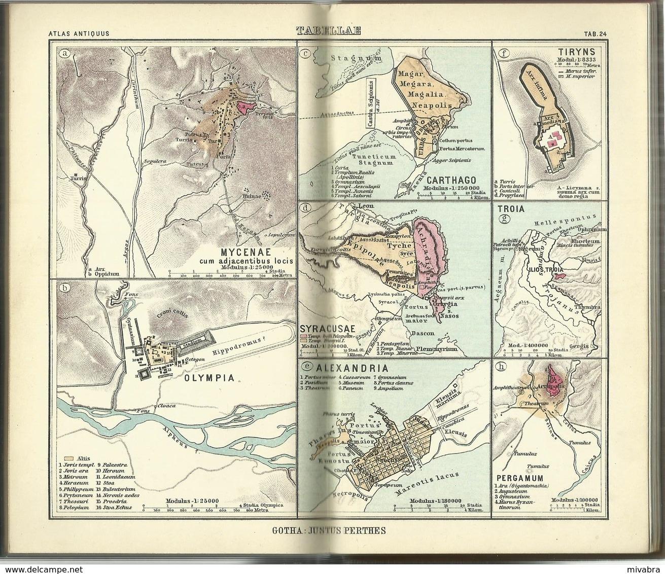 ATLAS ANTIQUUS - NEUNTE AUFLAGE JUSTUS PERTHES 1931 - Maps Of The World