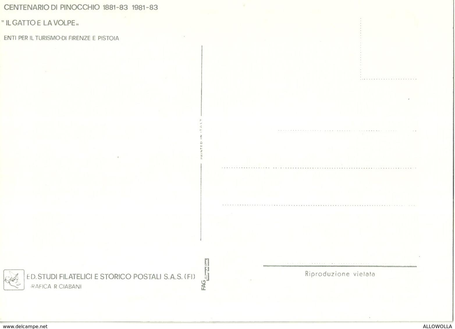 """665"""" PINOCCHIO-CENTENARIO 1881-1883/1981-1983-6 CARTOLINE C/FASCETTA  CART NON SPED. - Fiabe, Racconti Popolari & Leggende"""