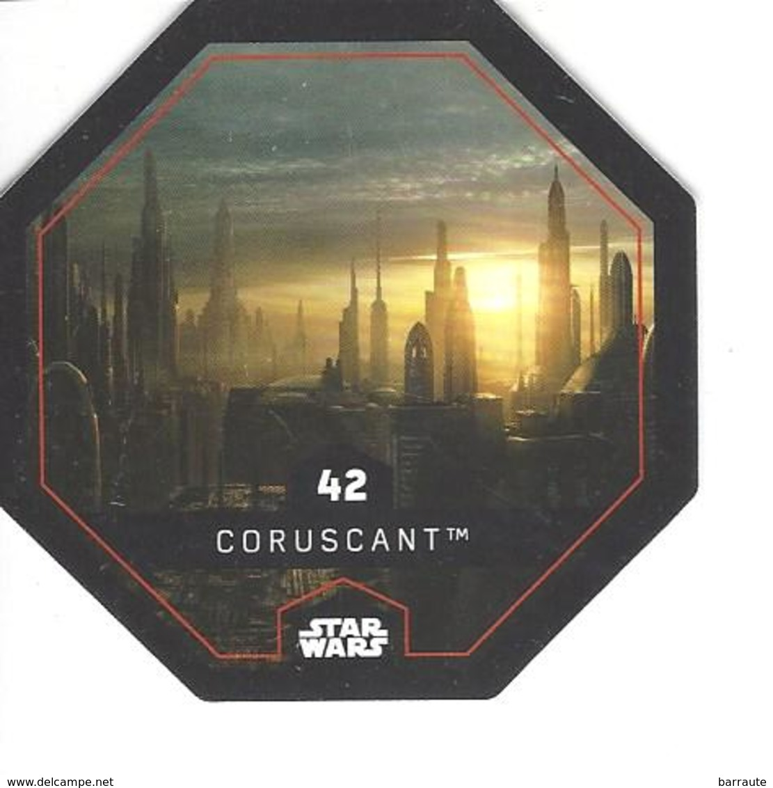 JETON LECLERC STAR WARS   N° 42 CORUSCANT - Power Of The Force