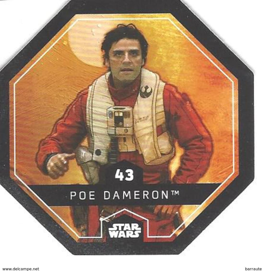 JETON LECLERC STAR WARS   N° 43 POE DAMERON - Power Of The Force