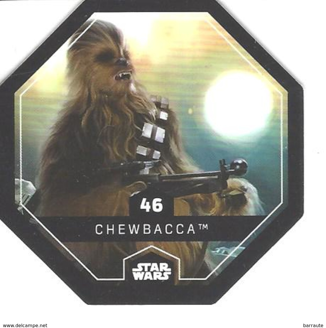JETON LECLERC STAR WARS   N° 46 CHEWBACCA - Power Of The Force