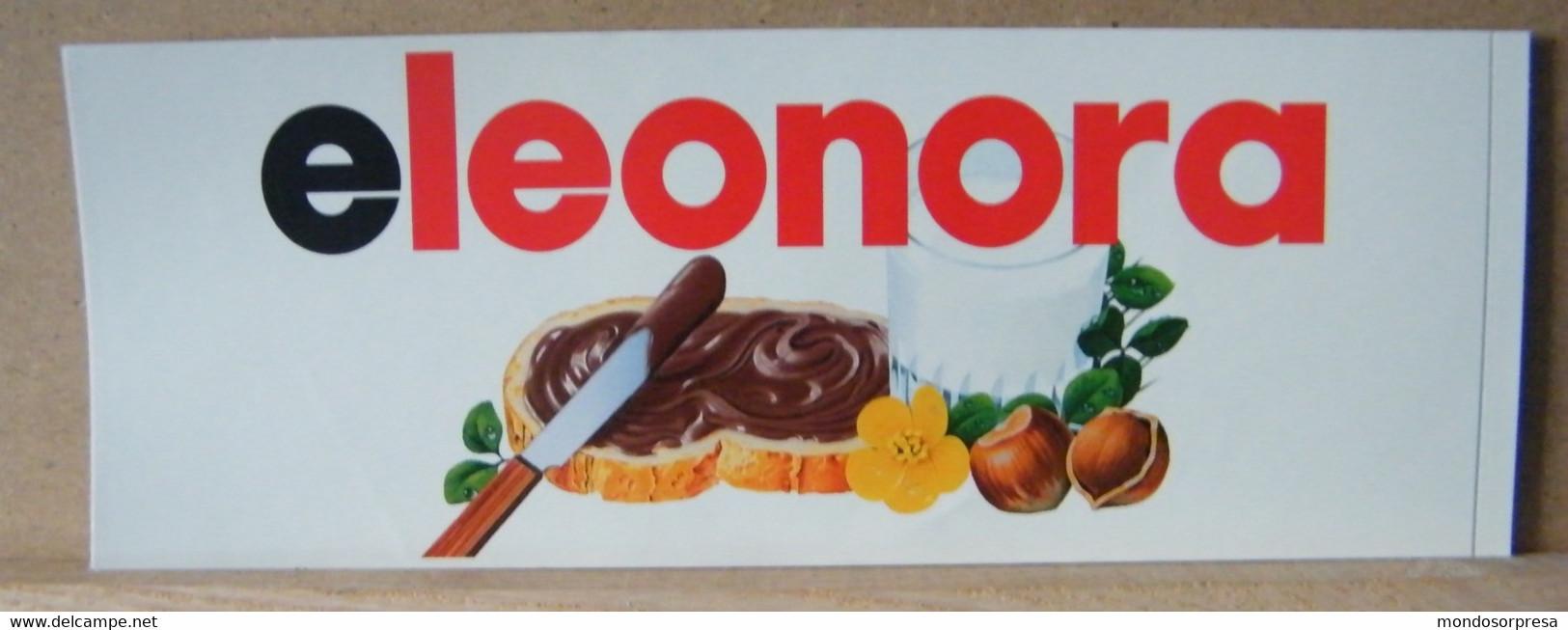 MONDOSORPRESA, ADESIVI NUTELLA NOMI, ELEONORA - Nutella