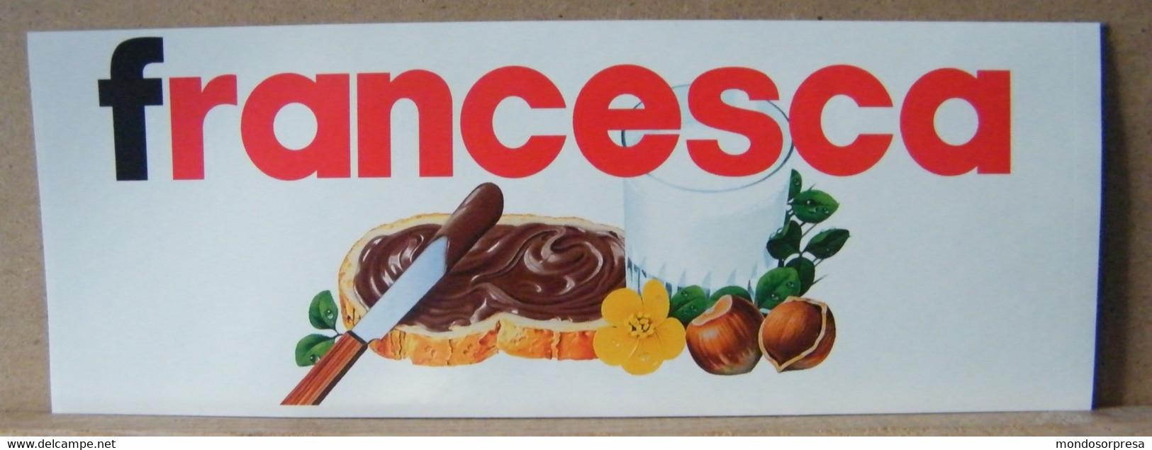 MONDOSORPRESA, ADESIVI NUTELLA NOMI, FRANCESCA - Nutella