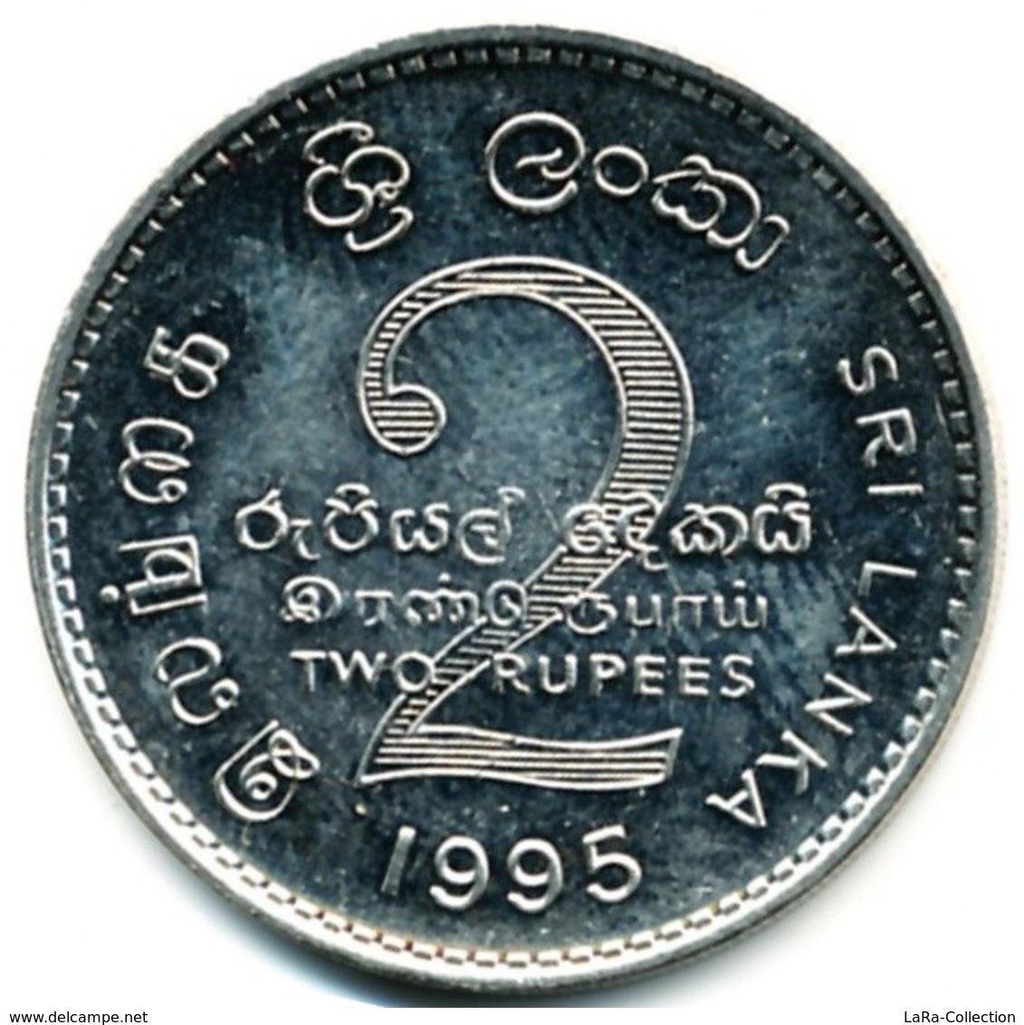 1995 Sri Lanka 2 Rupees (50th Anniversary Of Food And Agriculture Organiz.) Copper - Nickel Coin [#0046] - Sri Lanka
