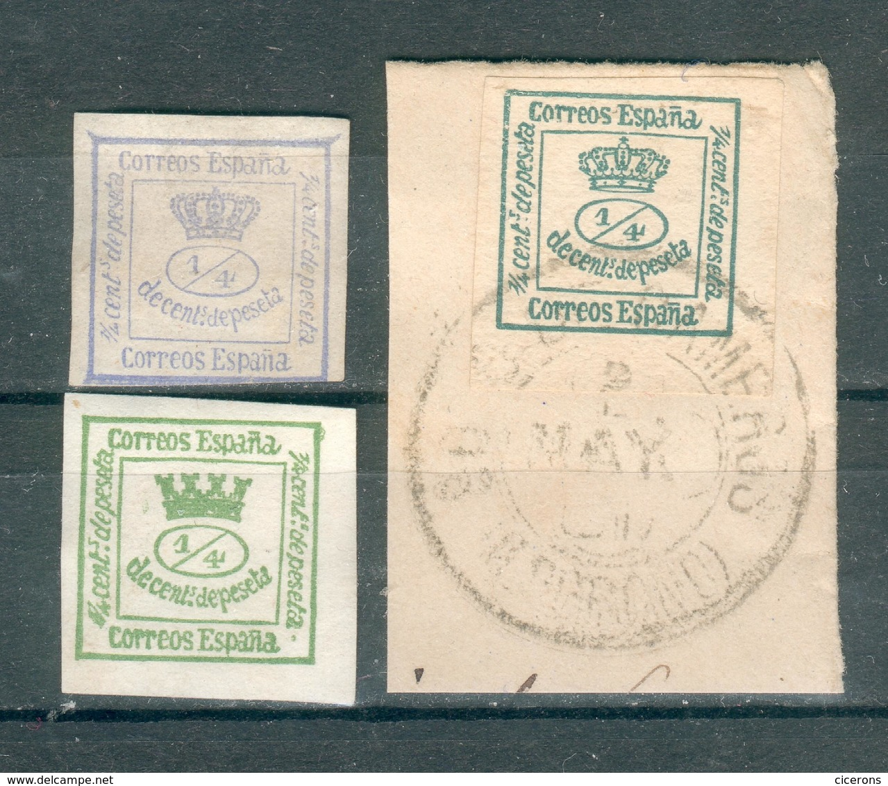 ESPAGNE ; 1872-1873-1910 ; Y&T N° 129-140-172 ; Oblitéré/neuf - Collections