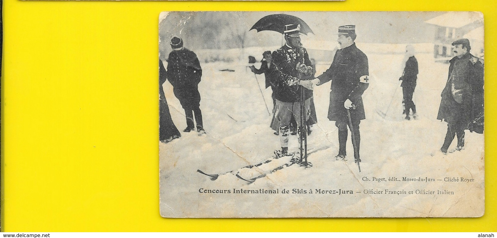 MOREZ Concours De Skis Officiers Français Et Italien (Paget Royer) Jura (39) - Morez