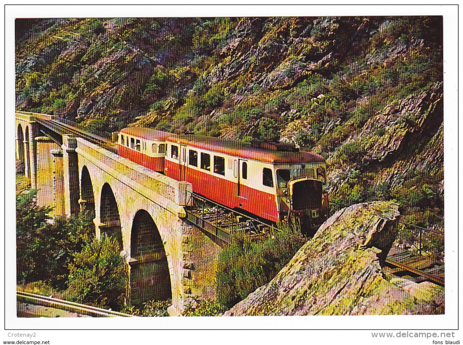 CPSM - Ponte Nuevo (Corse) - Autorail Billard Sur Le Pont Du Golo - FRANCO DE PORT - France