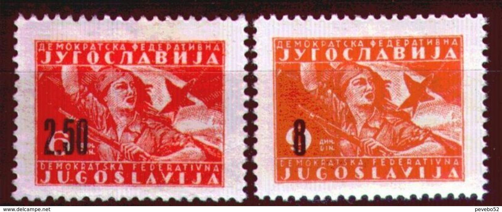 Yugoslavia 1946 Partisans - Overprint MNH - 1945-1992 République Fédérative Populaire De Yougoslavie