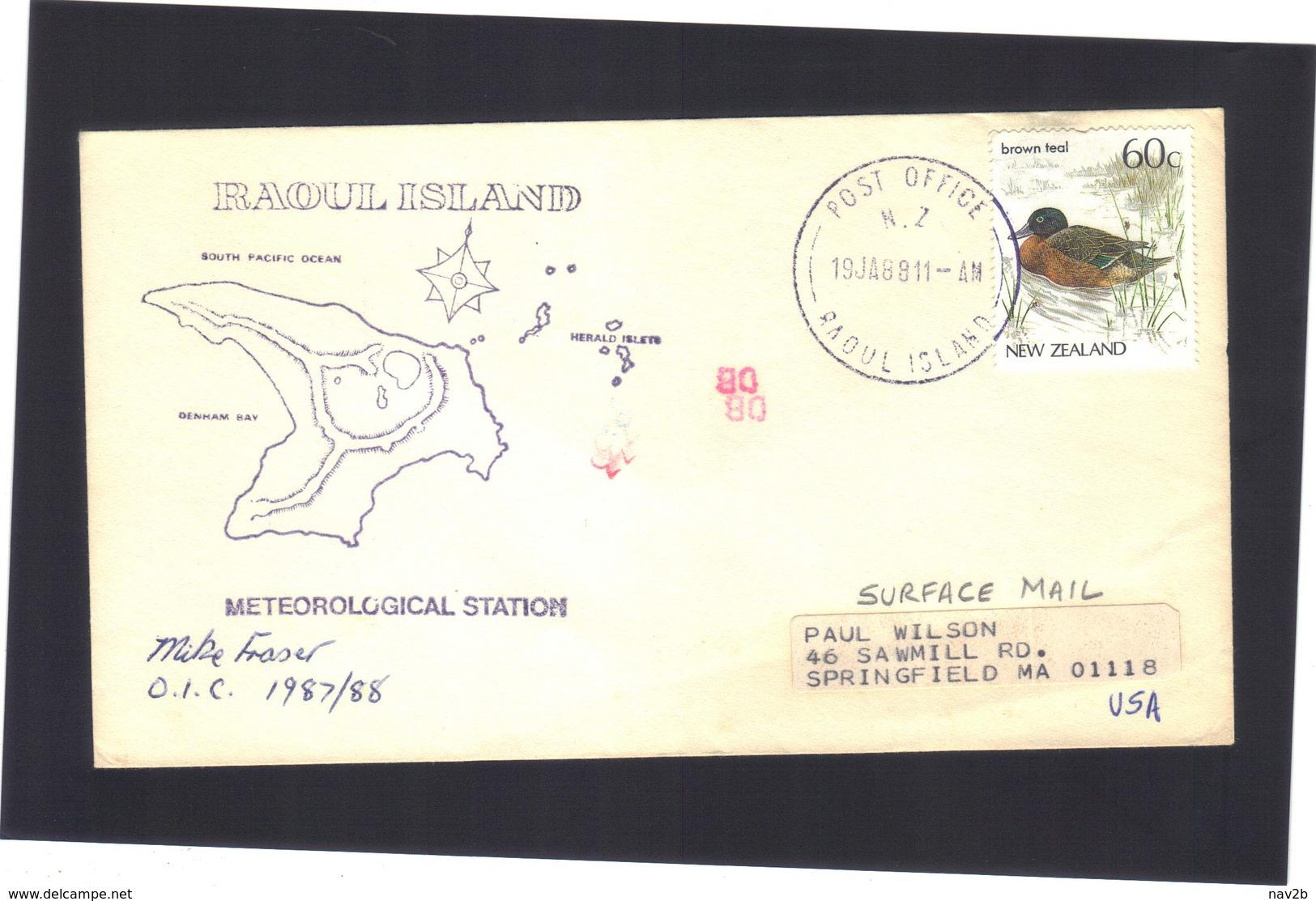 Météorological Station .   RAOUL  Island 1987/1988 - Neuseeland