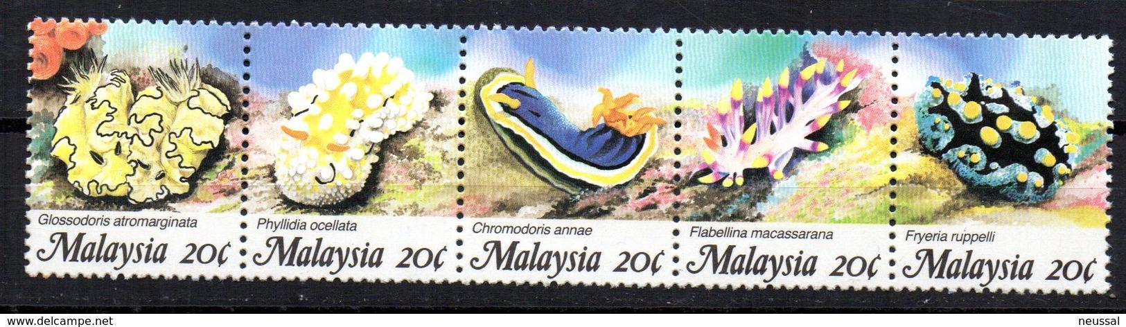Serie Nº 407/11 Malasia - Crustacés