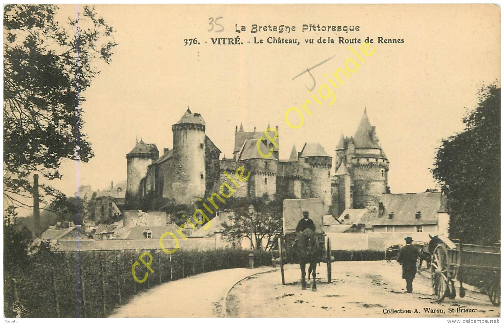 35. VITRE .  Le Chateau Vu De La Route De Rennes . - Vitre
