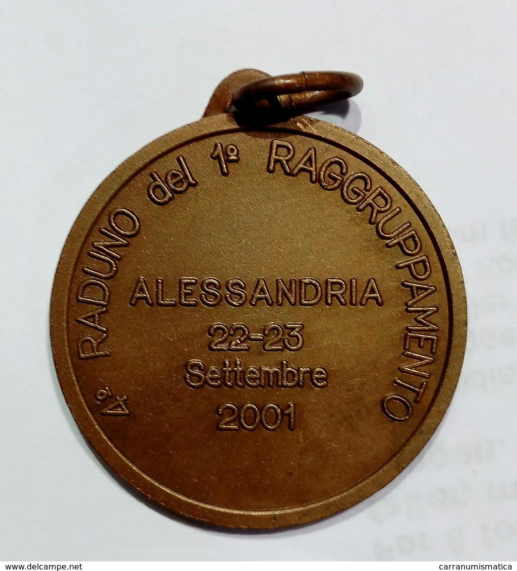 MEDAGLIA ALPINI - Sezione ALESSANDRIA - 4° Raduno Del 1° Raggruppamento - ( 2001 ) Bronzo - Italia