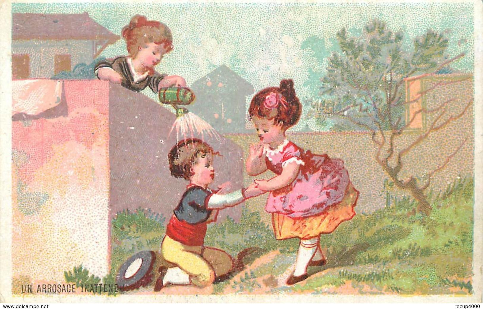 CALENDRIERS Calendrier 1881  L'arrosage 2scans - Calendriers