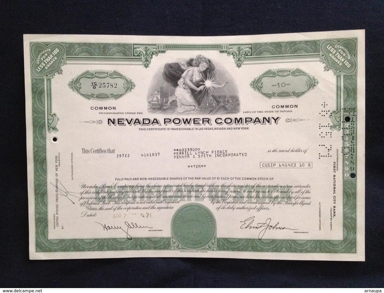 Nevada Power Company - Electricité & Gaz