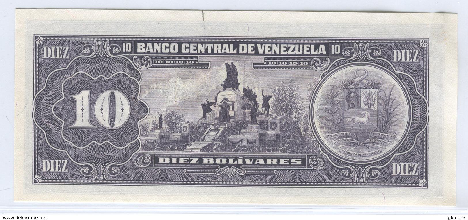 VENEZUELA 61b  1990 10 Bolivares UNC - Venezuela