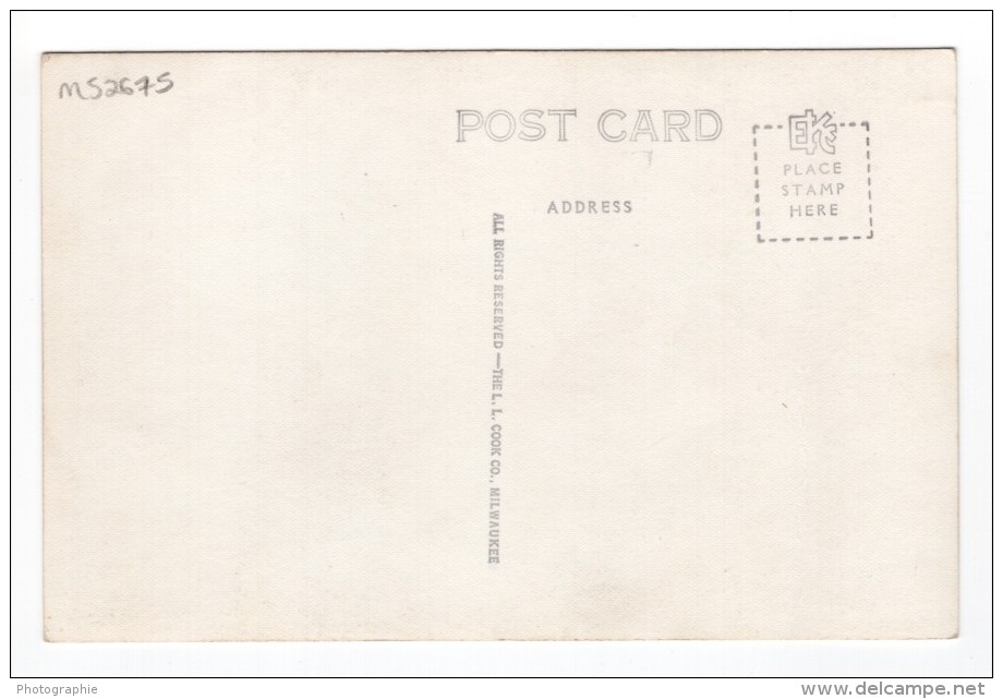 Nebraska Falls City Post Office Ancienne Carte Photo LL Cook EKC 1940 - United States