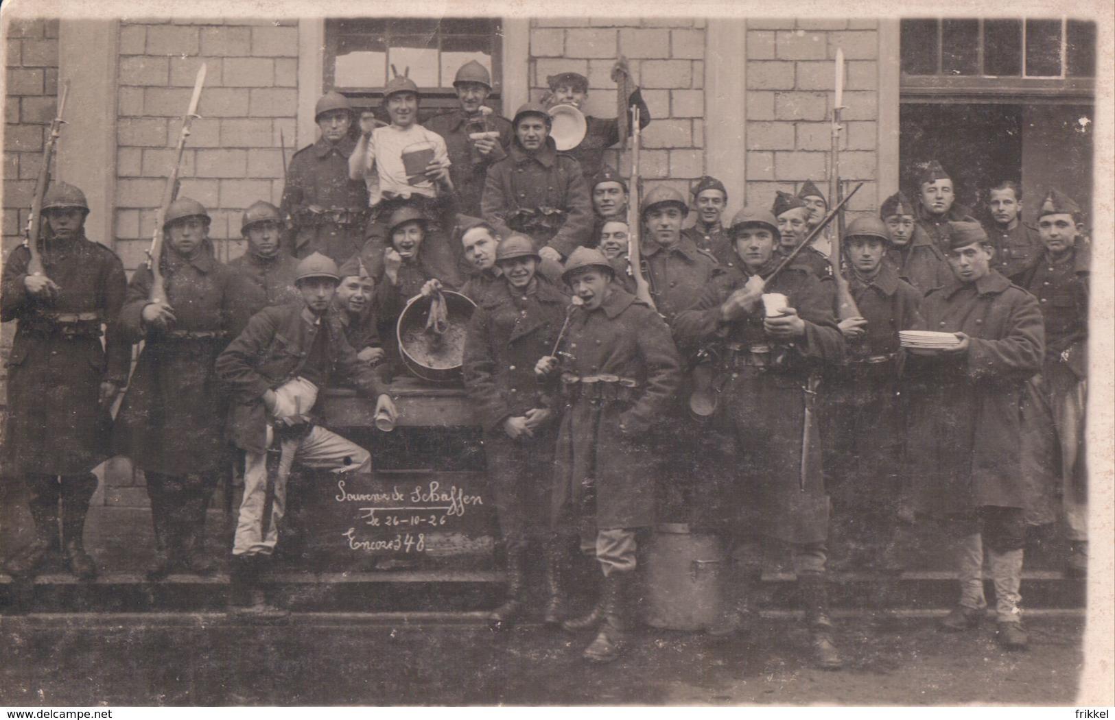 Fotokaart Carte Photo Fotokarte  Souvenir Schaffen ( Diest ) 1926 Soldaat Soldat Militair Militaire - Diest