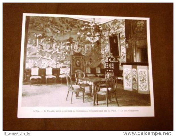 Prima Conferenza O Convenzione Pace Dell'Aia Del 1899 Palazzo Sala Del Giappone - Before 1900