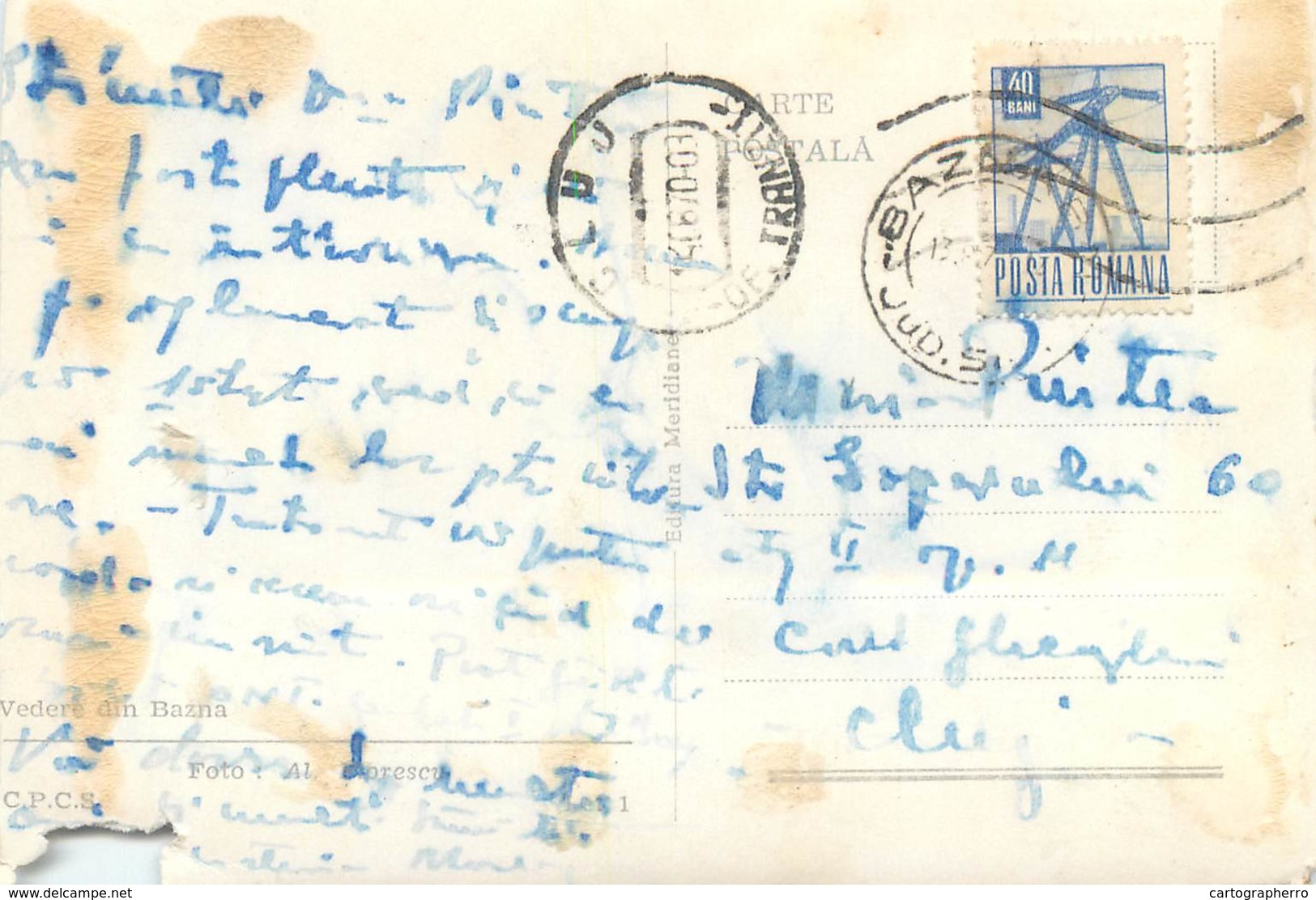 D1298 Bazna ( Damaged Postcard Trimmed ) - Romania