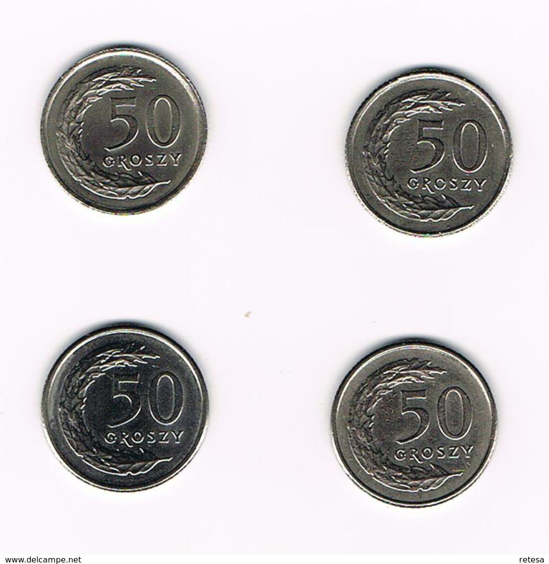 POLEN  4 X 50 GROSZY  1990/91/92/95 - Polen