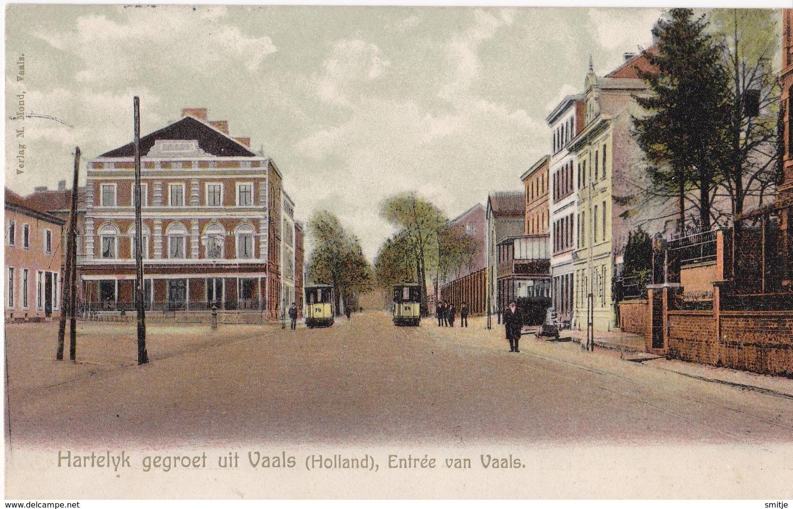 VAALS 1906 TRAM Nr. 79 En TRAM Nr. 66 ?? - ENTREE VAN VAALS - Vaals