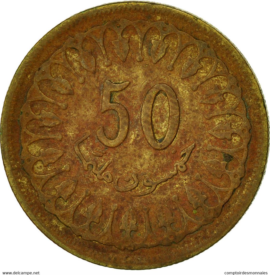 Monnaie, Tunisie, 50 Millim, 1960, TB, Laiton, KM:308 - Tunisie