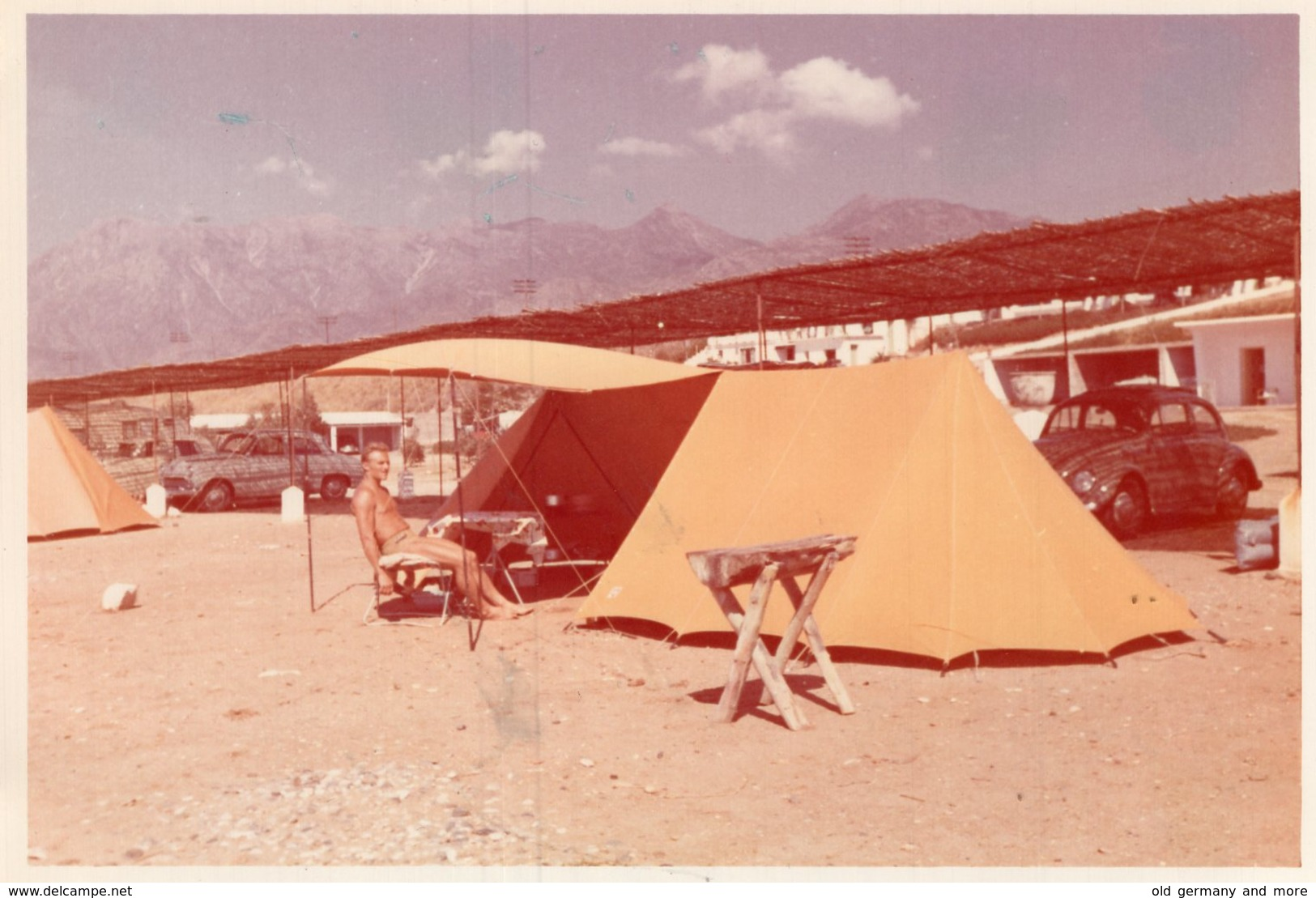Original Photo Camping - Pin-up