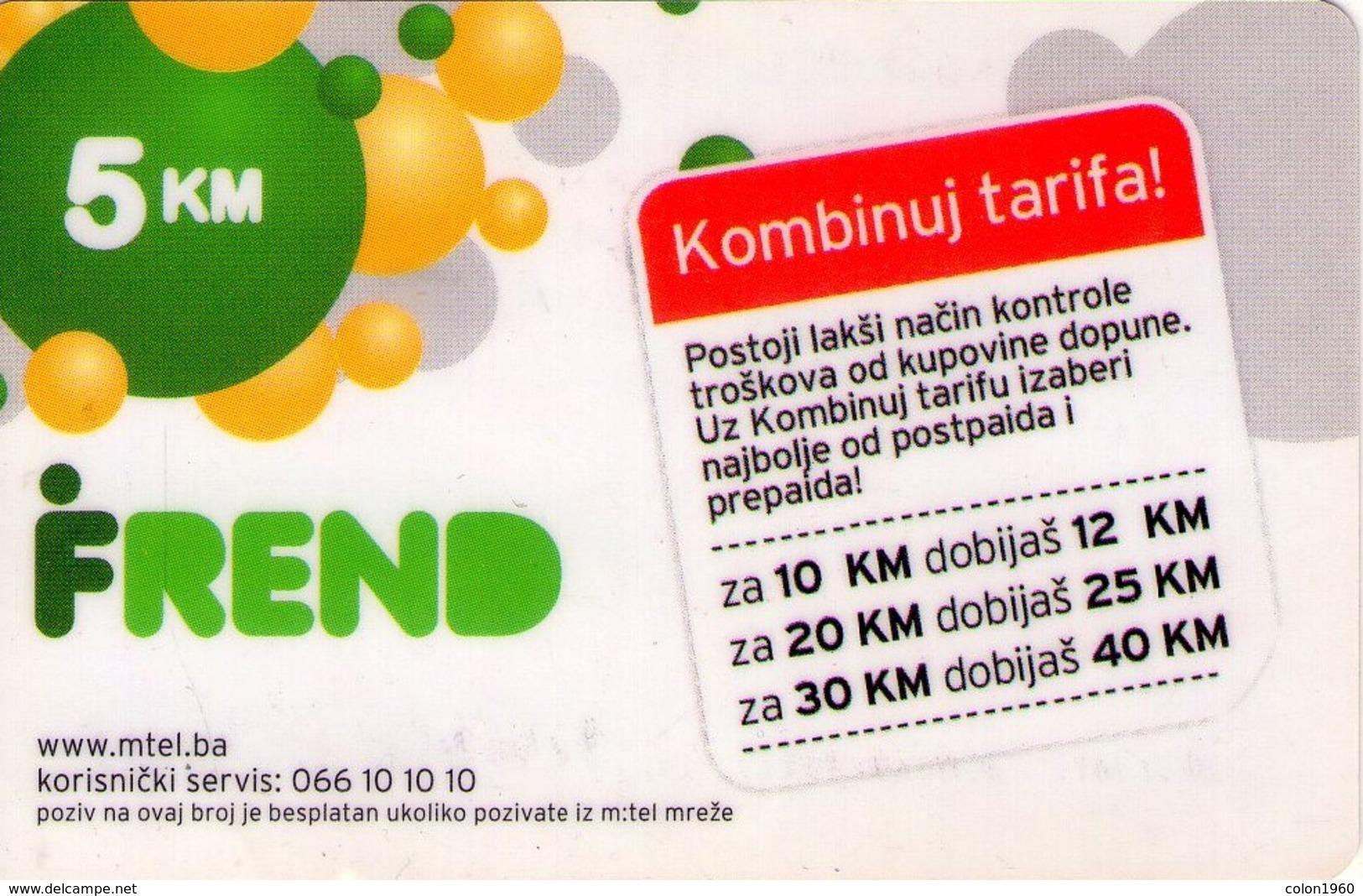 TARJETA TELEFONICA DE BOSNIA Y HERZEGOVINA (PREPAGO). 20.12.2011 (536) - Bosnia