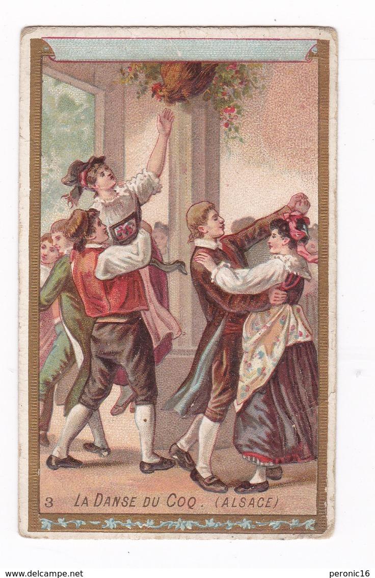 Jolie Chromo Non Publicitaire Fin XIXe Siècle, La Danse Du Coq (Alsace) - Autres