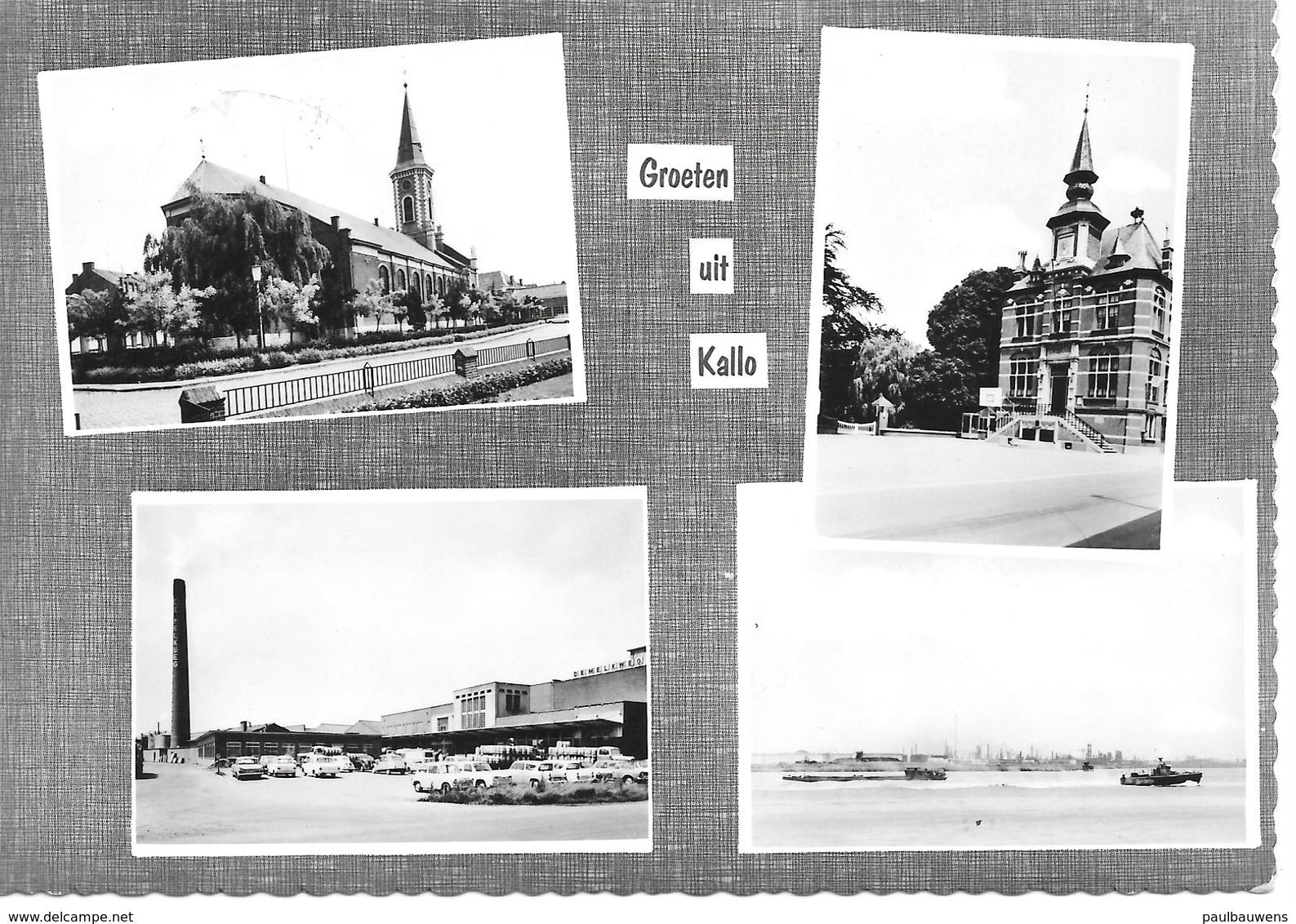Beveren, Kallo, Groeten Uit Kallo, Met Postzegel 1972, Druk R. Van Remoortel, Hoog Kallo 31 - Beveren-Waas