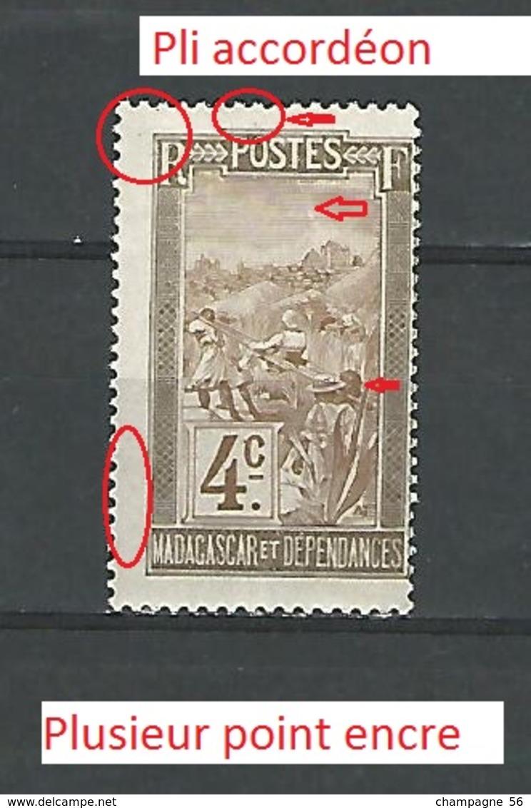 1908  N° 96  MADAGASCAR ET DEPENDANCE 4C NEUF ** GOMME - Madagaskar (1889-1960)