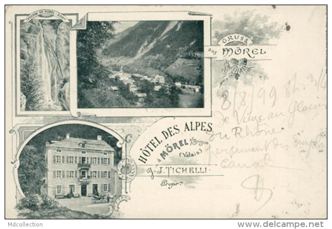 CH MOREL / Hôtel Des Alpes / Carte Composée / - VS Valais