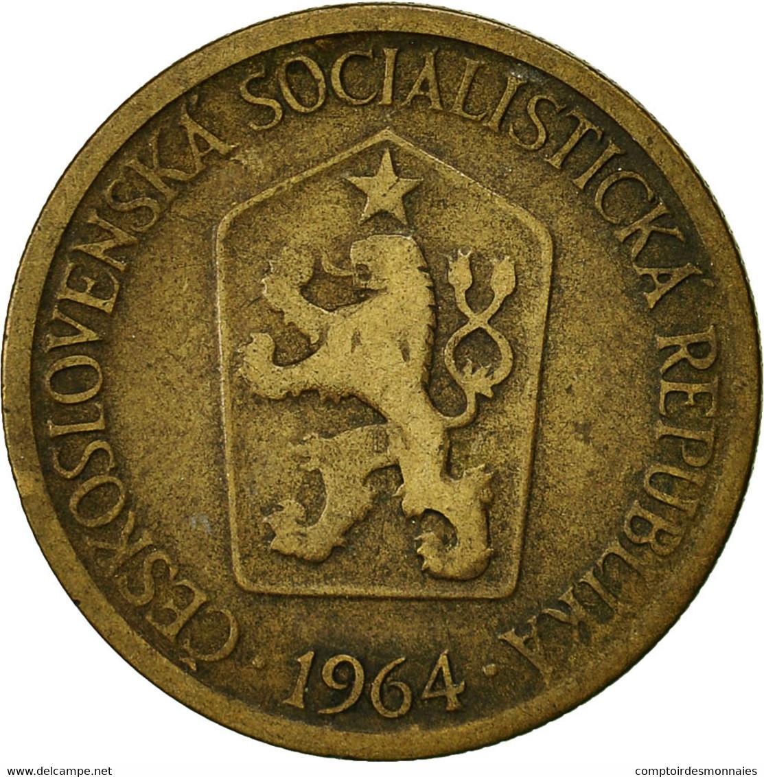 Tchécoslovaquie, Koruna, 1964, TB, Aluminum-Bronze, KM:50 - Czechoslovakia