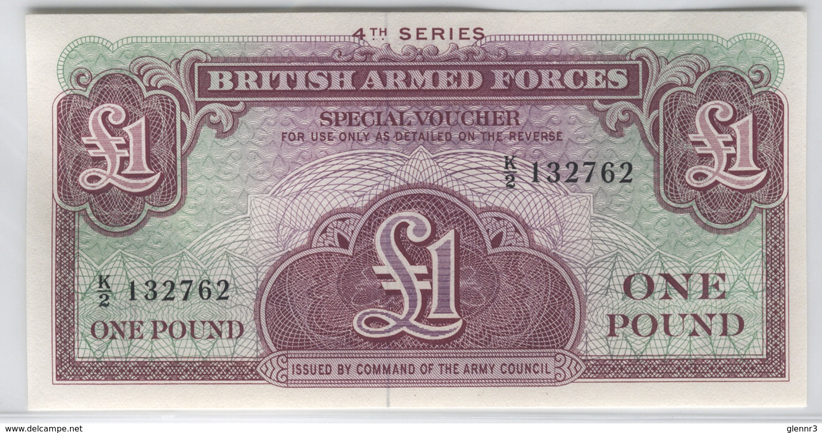 BRITISH ARMED FORCES M36 1962 1 Pound UNC - Other