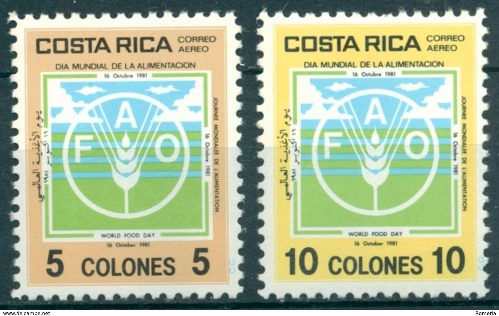 Costa Rica - 1981 - Yt PA 838/839 - Journée Mondiale De L'Alimentation - ** - Costa Rica