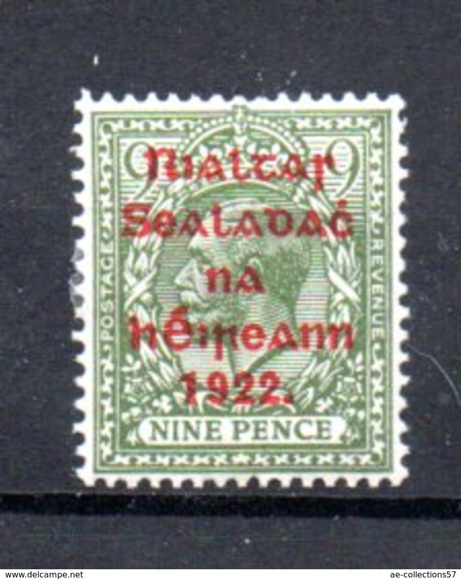 Irlande / N 19 / 9 P  Vert / NEUF Trace De Charnière - 1922-37 Irish Free State