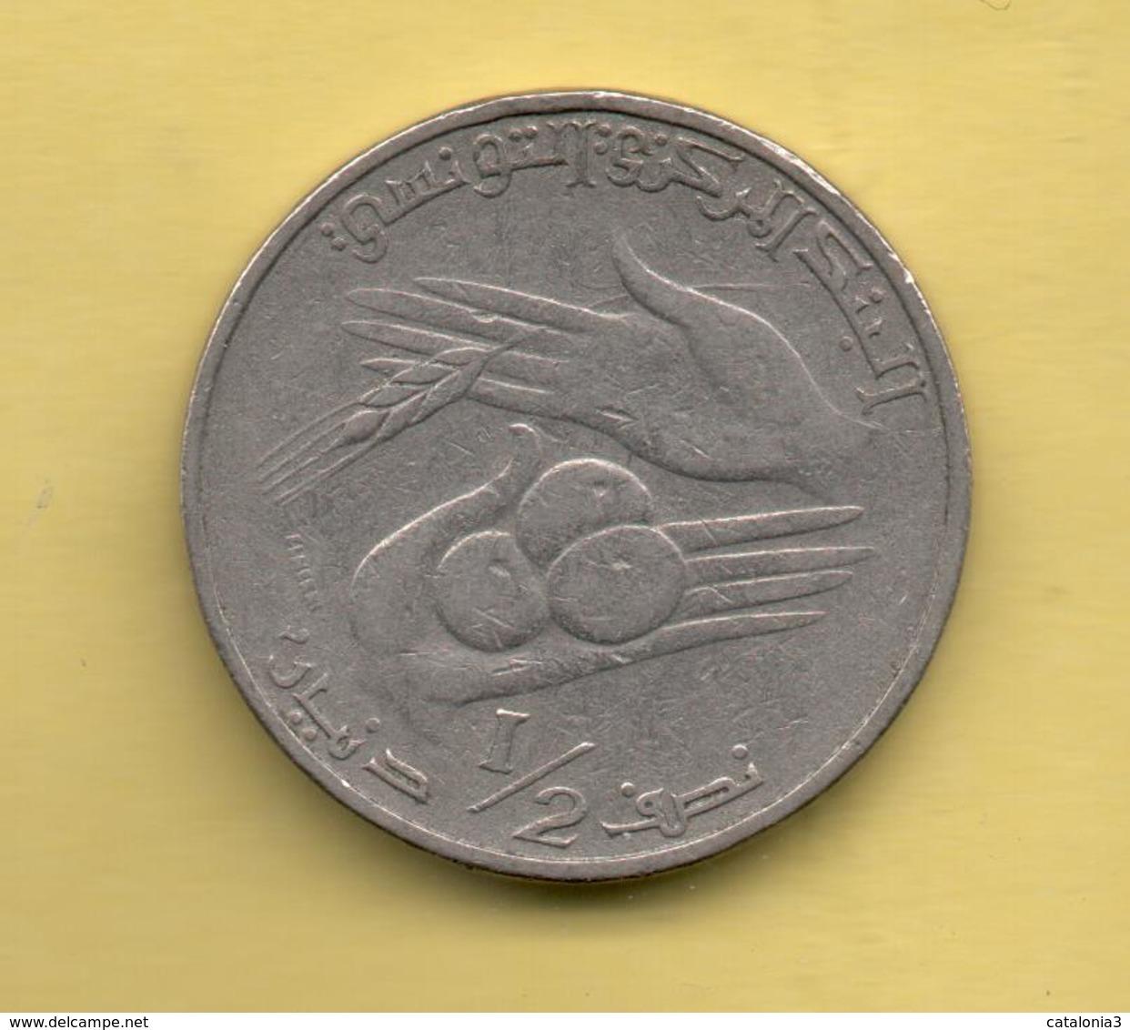 TUNEZ - 1/2 Dinar 1976 - Túnez